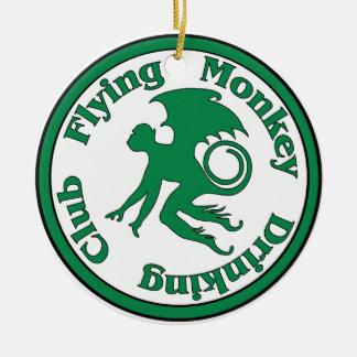飛んでいるな猿の飲むクラブ セラミックオーナメント