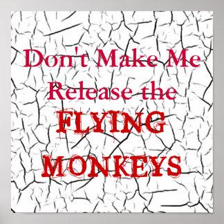 飛んでいるな猿ポスター ポスター