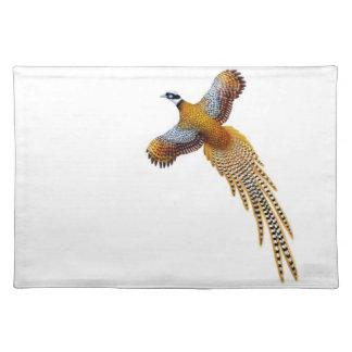 飛んでいるな男性のReevesのキジのランチョンマット ランチョンマット