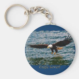 飛んでいるな白頭鷲の魚釣りの野性生物のkeychain キーホルダー