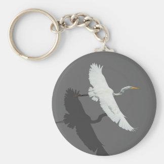 飛んでいるな白鷺1 Keychain キーホルダー