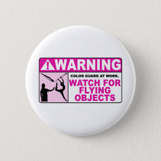 飛んでいるな目的のための警告の腕時計! 5.7CM 丸型バッジ
