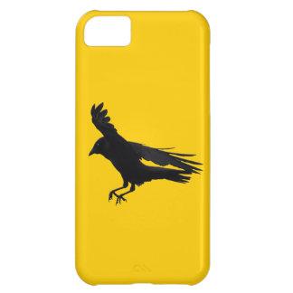 飛んでいるな着陸の黒のカラスの芸術 iPhone5Cケース