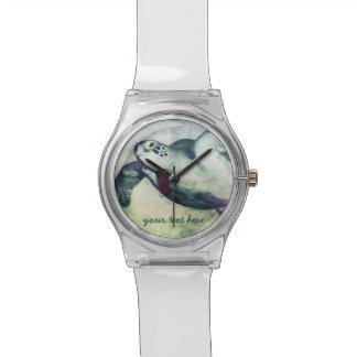 飛んでいるな緑のウミガメ| May28thの腕時計 腕時計