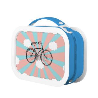 飛んでいるな自転車のピンクのReyのお弁当箱 ランチボックス