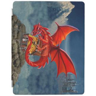 飛んでいるな赤いドラゴンの宝物箱 iPad カバー