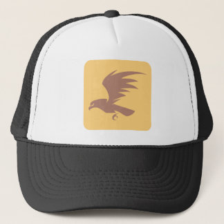 飛んでいるな《鳥》ハヤブサの鳥アイコン キャップ
