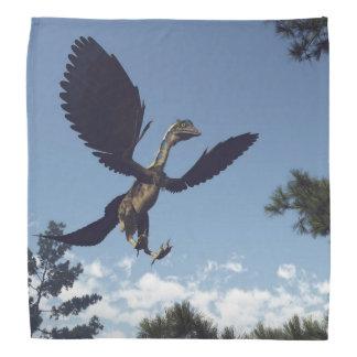 飛んでいる始祖鳥の鳥の恐竜- 3Dは描写します バンダナ