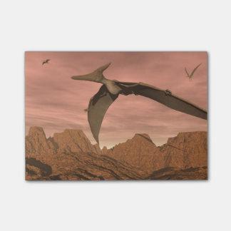 飛んでいるPteranodonの恐竜- 3Dは描写します ポストイット