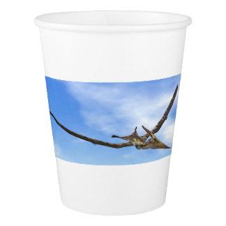 飛んでいるPteranodonの恐竜- 3Dは描写します 紙コップ
