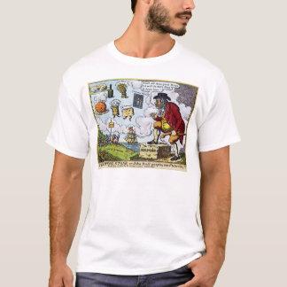 飛石、にのぞいているジョンBull Tシャツ