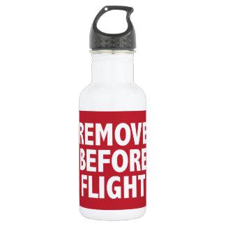 飛行の前に取除いて下さい ウォーターボトル