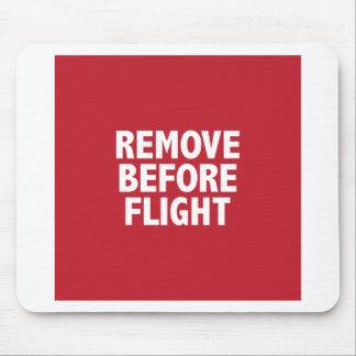 飛行の前に取除いて下さい マウスパッド