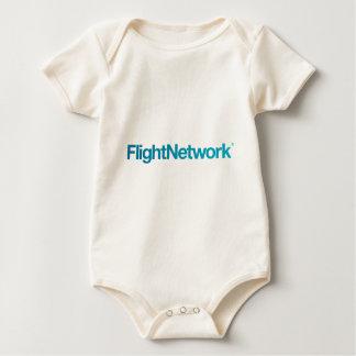 飛行ネットワークのロゴの服装 ベビーボディスーツ