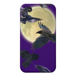 飛行ワタリガラス及び月の野性生物のiphone 4ケース iPhone 4/4S ケース