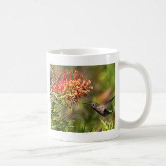 飛行中にハチドリの食べ物を与えること コーヒーマグカップ