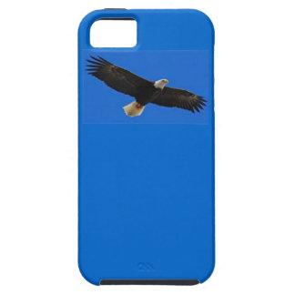 飛行中のアメリカのワシとのiphone 5のVibeの場合。 iPhone SE/5/5s ケース