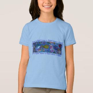 飛行中のキス! キスをするな鳥か愛鳥のTシャツ Tシャツ