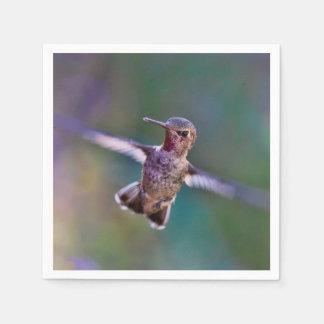 飛行中のハチドリ スタンダードカクテルナプキン