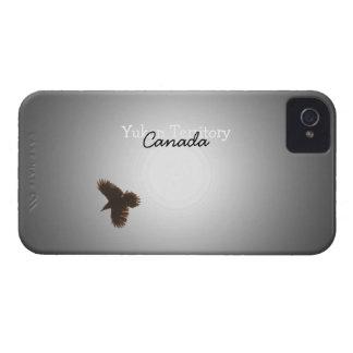 飛行中のワタリガラス; ユーコン準州領域の記念品 Case-Mate iPhone 4 ケース