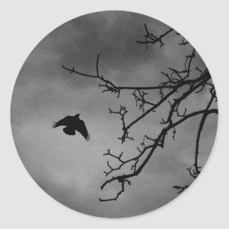 飛行中の不気味な鳥 ラウンドシール