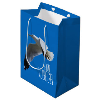 飛行中の息もつけないほどリング勘定書を出されたカモメ ミディアムペーパーバッグ