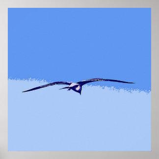 飛行中の海カモメ ポスター