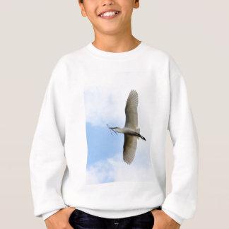飛行中の素晴らしい白鷺 スウェットシャツ