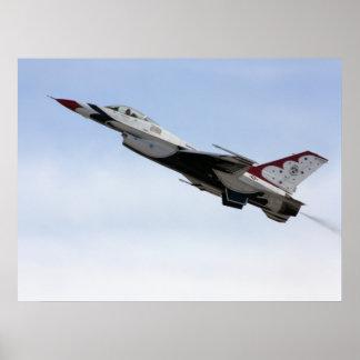 飛行中のF-16雷鳥 ポスター