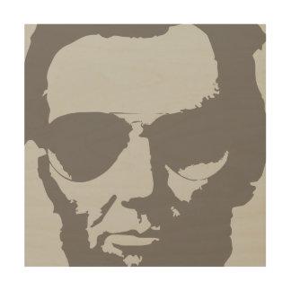 飛行士のサングラスが付いているリンカーン-灰色 ウッドウォールアート