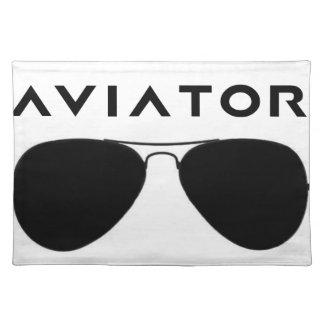 飛行士のサングラスのシルエット ランチョンマット