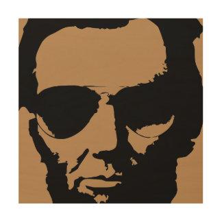 飛行士のサングラス(黒)が付いているリンカーン ウッドウォールアート
