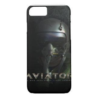 飛行士の戦闘機のパイロットのヘルメットおよびHUD iPhone 8/7ケース
