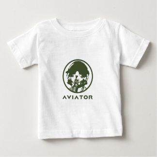 飛行士の戦闘機のパイロットのヘルメット ベビーTシャツ