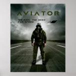 飛行士の戦闘機のパイロット ポスター