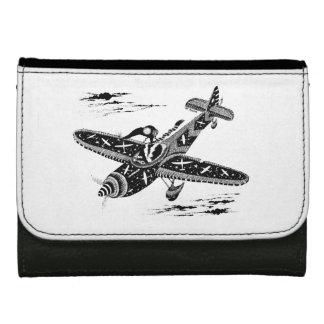 飛行士の革財布