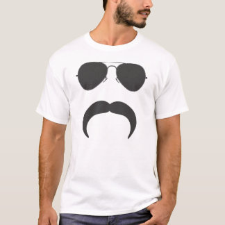 飛行士の髭のシルエット Tシャツ