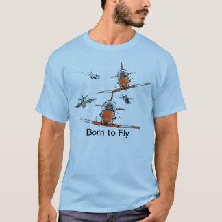 飛行士のTシャツを飛ばすために生まれて下さい Tシャツ