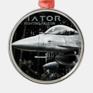 飛行士F-16の戦いの《鳥》ハヤブサ メタルオーナメント