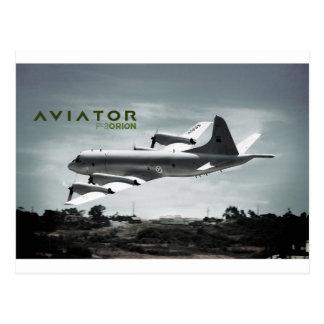 飛行士P3オリオンの飛行機 ポストカード