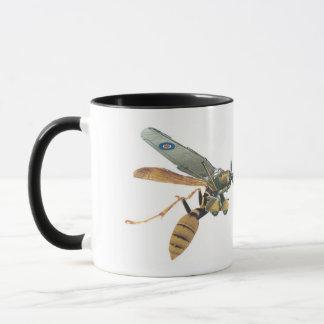 飛行機およびスズメバチの軍隊のマグ マグカップ