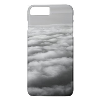 飛行機からの高度の白黒雲 iPhone 8 PLUS/7 PLUSケース