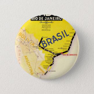 飛行機での旅行ブラジルブラジル 5.7CM 丸型バッジ