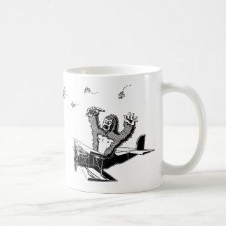 飛行機のサル コーヒーマグカップ
