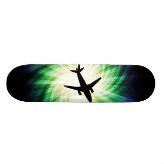 飛行機のシルエット; カッコいい オリジナルスケートボード