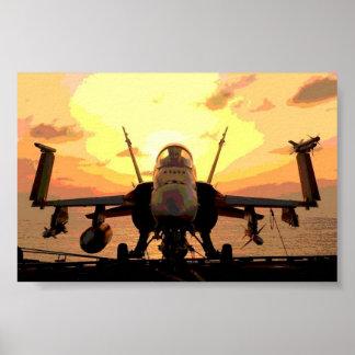 飛行機のスズメバチF A-18 USSジョンC. Stennis ポスター