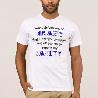 飛行機のティーの素早く書き留めること Tシャツ