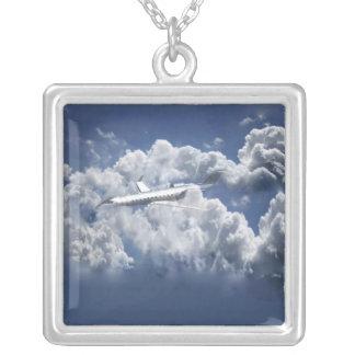 飛行機のネックレス シルバープレートネックレス
