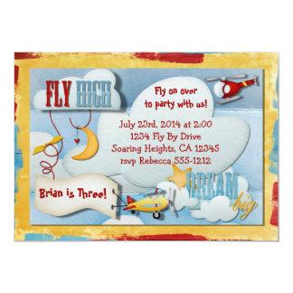 飛行機のパーティの招待状 カード