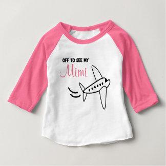 飛行機のワイシャツ- Mimiを見るために旅行|のために時間を計って下さい ベビーTシャツ